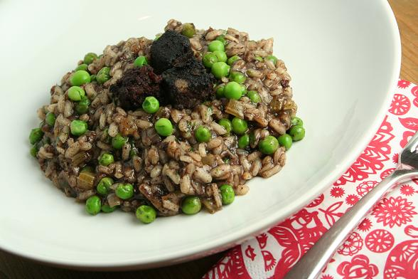 black-pudding-and-pea-risotto