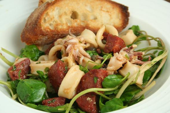 chorizo-and-squid-salad