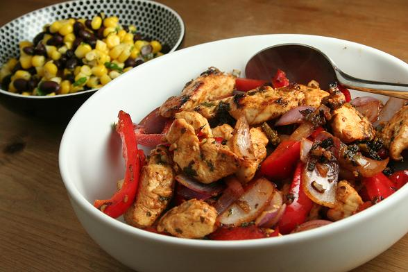 fajitas-and-corn-salsa