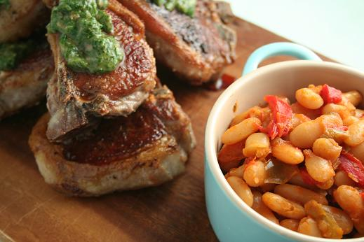 lambs_chops_and_rioja_beans