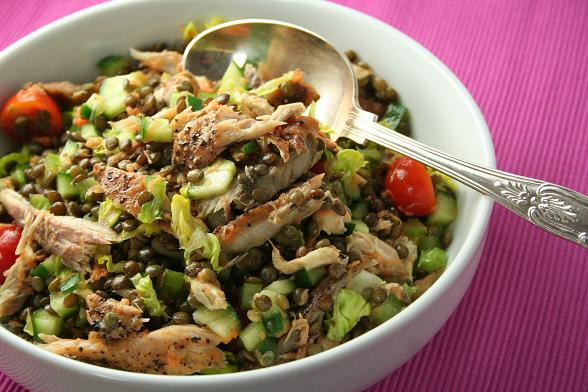 lentil-and-mackerel-salad