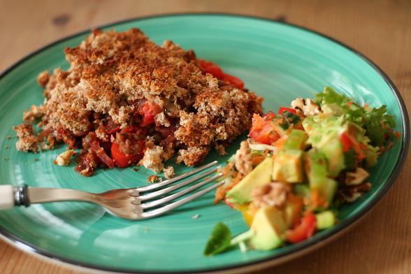 lentil-crumble