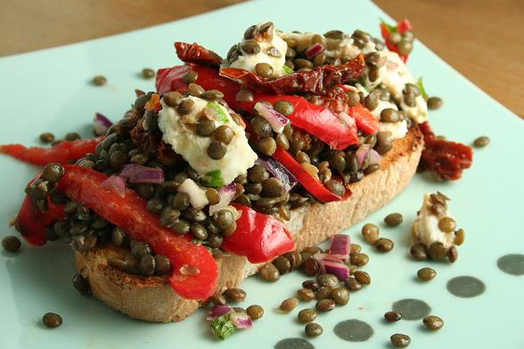 puy-lentil-salad-with-mozzarella