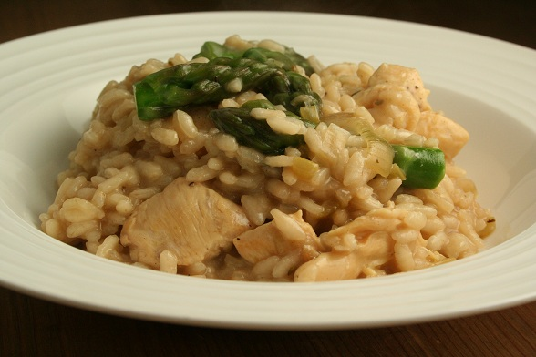 ... asparagus artichoke and shiitake risotto baked risotto with grilled