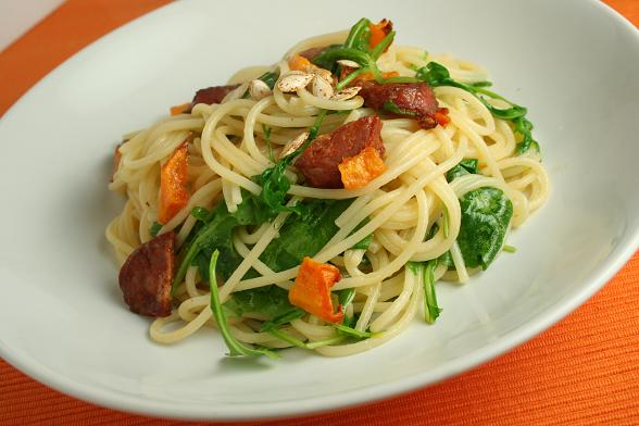 spaghetti-with-butternut-and-chorizo