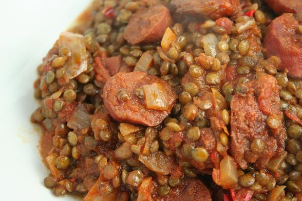 spicy-lentils-with-chorizo