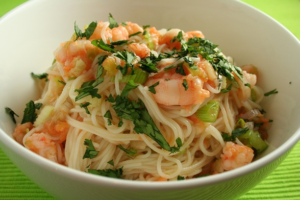Thai Noodle and Prawn Salad | Dinner Diary